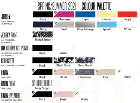 sympli spring summer 2021 color pallette